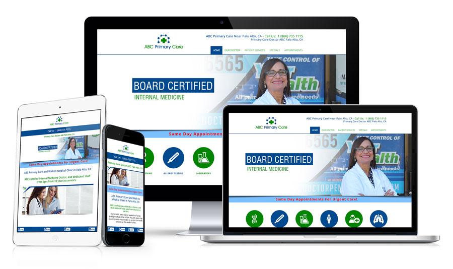 Primary Care Doctor Website Development