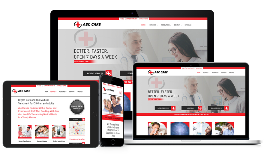 Urgent Care Marketing Website Included Example 43