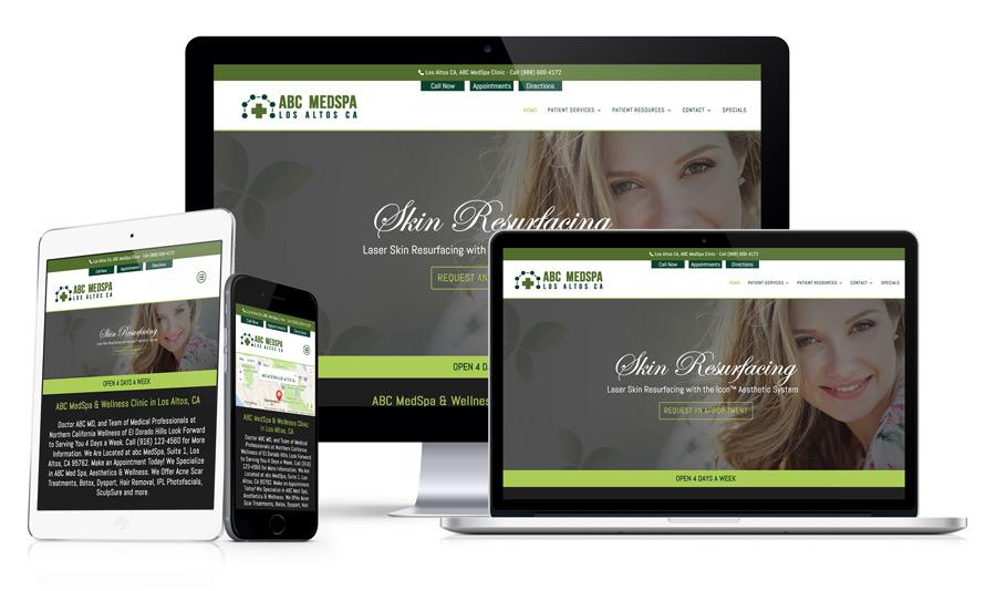 Example 41 Medspa Conversion Website Design