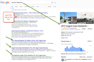 Search advertising for doctors