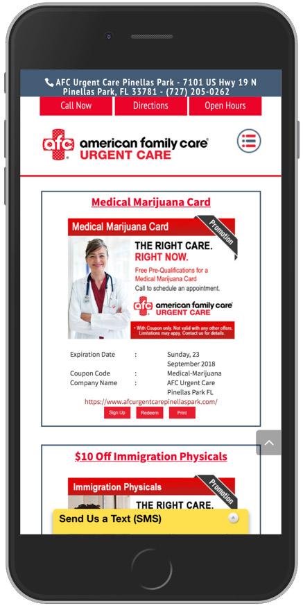 Smart Mobile Messenger App For Medical Marketing $99/mon