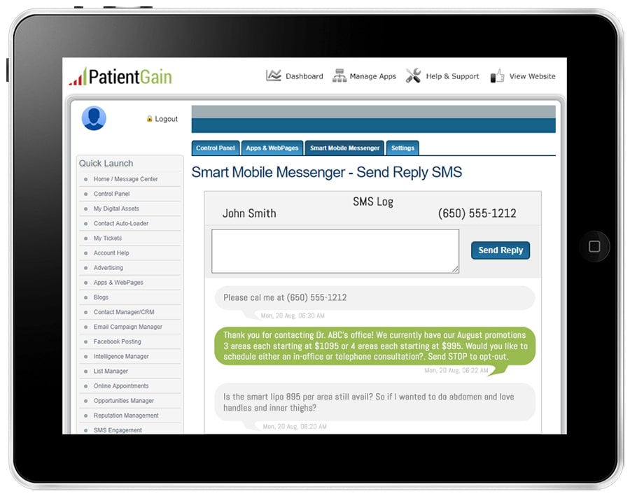 2 Way Texting App For Doctors - Mobile Marketing