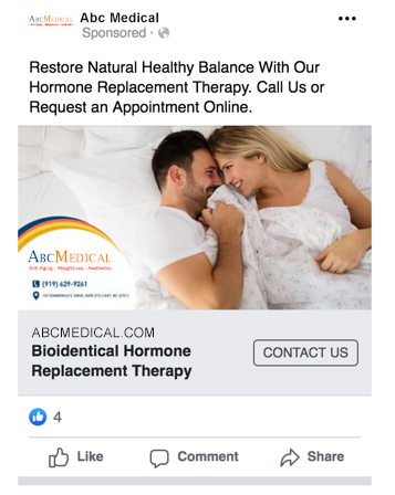 Example 22 of Facebook Ads for Doctors