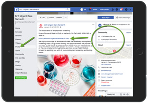 Facebook Posting Physicians and Medical Practices Example 17