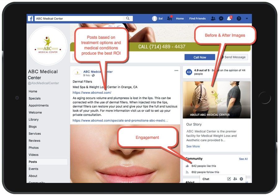 Facebook Posting Physicians and Medical Practices Example 16