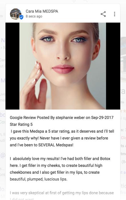 Google Post App Example 2 - Using Reviews