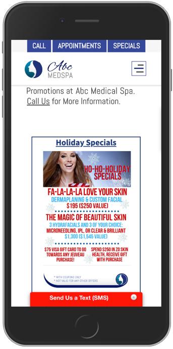 Example Idea of Medical Marketing Promotion - MedSpa Example.