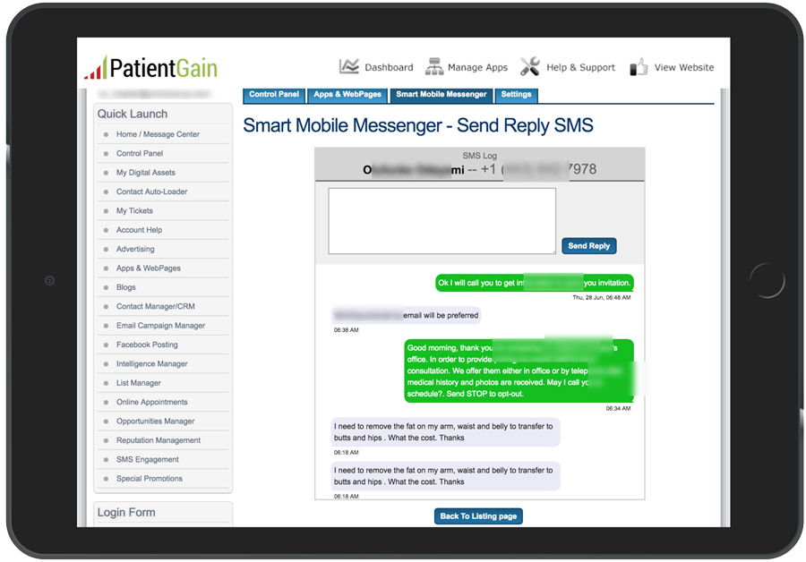 SMS Texting App For Doctors Example 45
