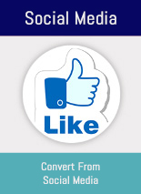 5 Social Media Apps included & integrated with your OnRevenue provided Website & CRM