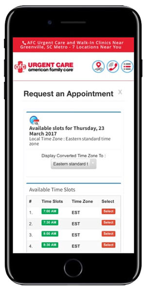 Clinic Appointment App on websites