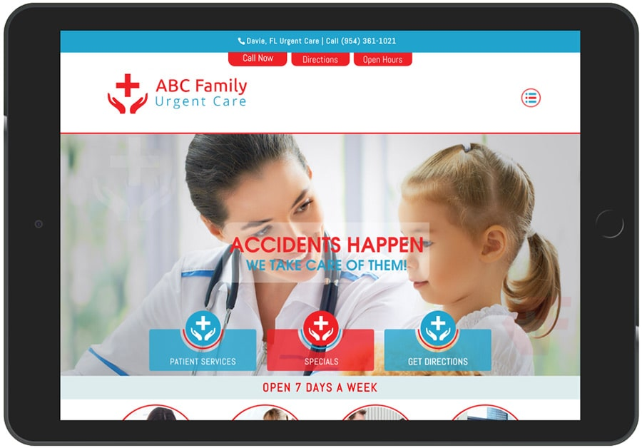 Urgent Care Medical Marketing Website Example 5
