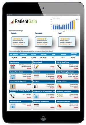 Medical Marketing Dashboard for Patient Data