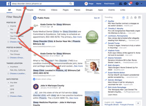 Facebook Search For Doctors and Medical Practices