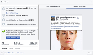 Example Facebook Ads for Doctors