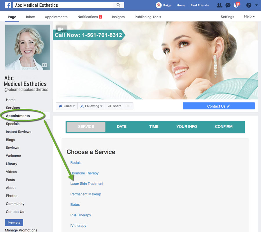MedSpa Marketing Using Appointment Requests From Facebook