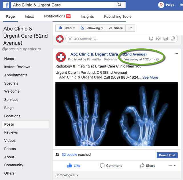 Facebook Marketing For Urgent Care Centers