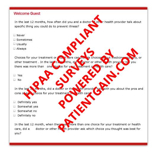 Patient Surveys with Business Associate Agreement (BAA)