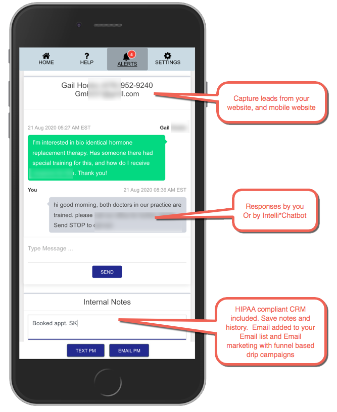 SMS Lead Capture Texting App For Doctors Example 45