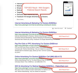 SEO for Medical Practices Example 2