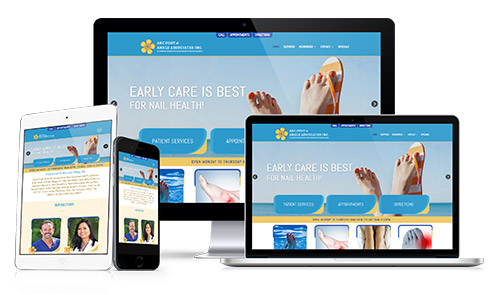 Website Designs Example Podiatrist, Foot and Ankle Doctor